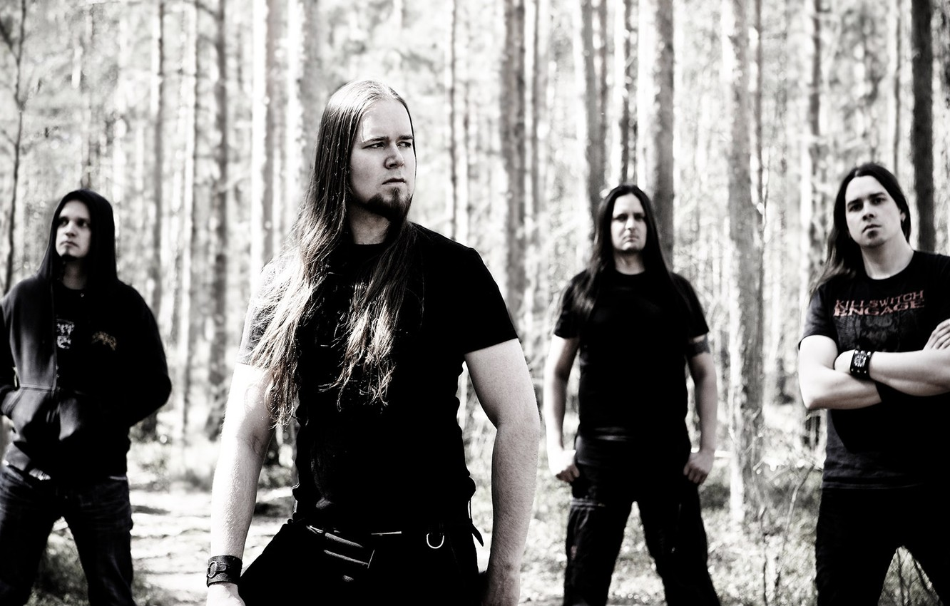 Фото обои Metal, Rock, Music, hair, look, Finland, Melodic Death Metal, Heavy, insomnium, Finish, band_members