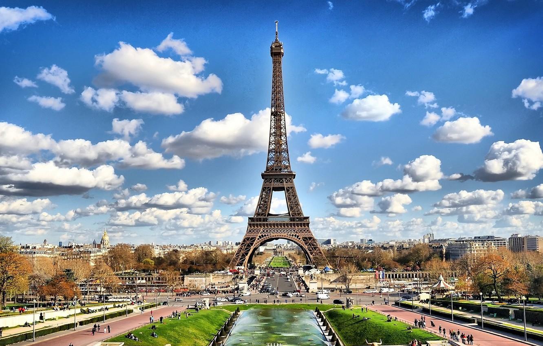 Обои Эйфелева башня, рисунок. Города foto 9