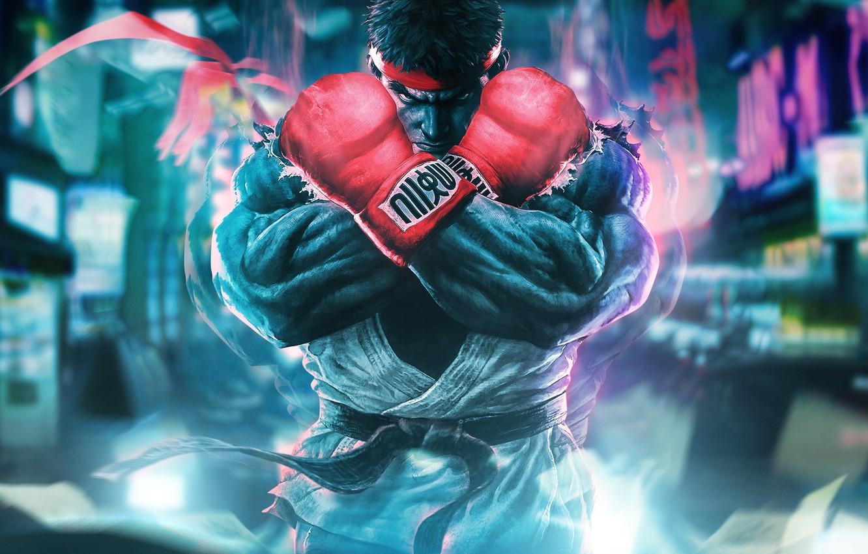 Фото обои боец, capcom, ryu, Street Fighter 5