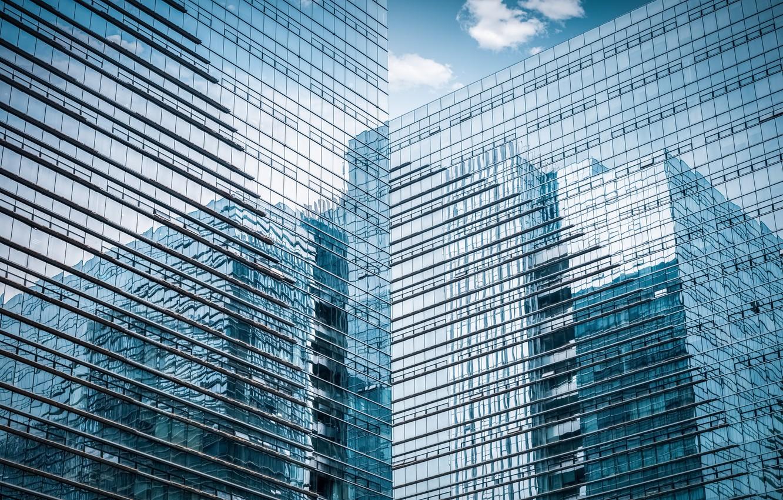 Обои здание, стекло, окна, Вверх. Города foto 8