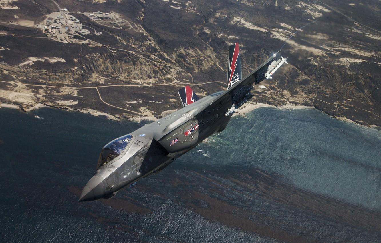 Обои F-35, lightning ii, истребитель, бомбардировщик, суша. Авиация foto 10