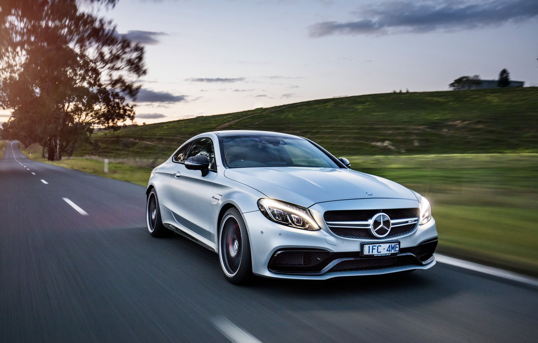 Фото обои Mercedes-Benz, мерседес, AMG, Coupe, C-Class, C205