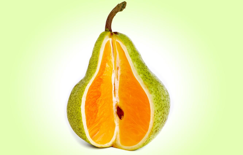 Фото обои рендеринг, яблоко, груша, orange, peach, mixed fruit