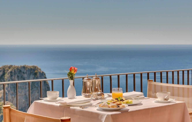 Фото обои juice, terrace, Breakfast, sea view