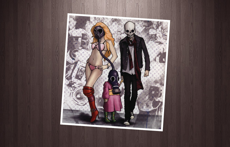 Фото обои рисунок, рамка, Linkin Park, Mike Shinoda