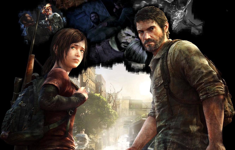 Фото обои Элли, The Last of Us, Джоэл, Naughty Dog, Одни из нас, Joel, Ellie, Последний из …