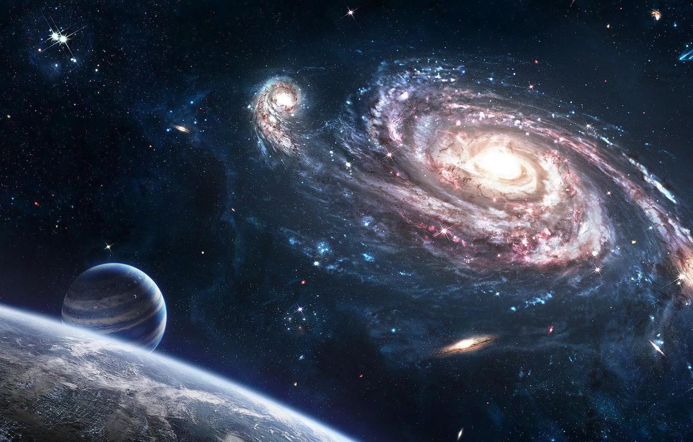 Фото обои космос, Вселенная, Земля