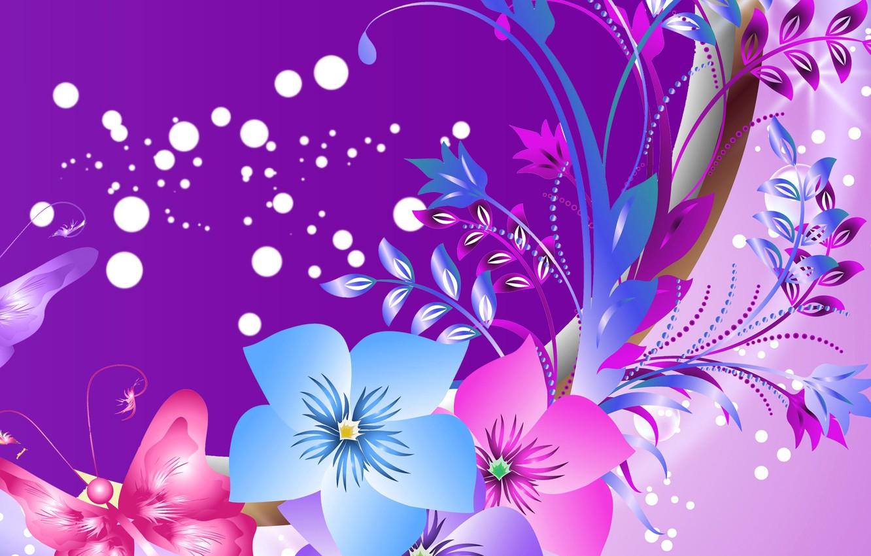 Обои вектор, абстракция, цветы, открытка. Разное foto 6