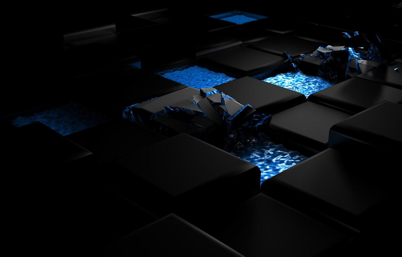 Фото обои вода, дизайн, абстракция, стиль, разрушение, отблеск, фигуры, распад