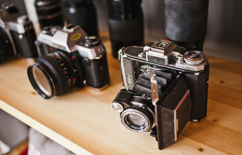 Обои vintage, Фотоаппараты. HI-Tech foto 11