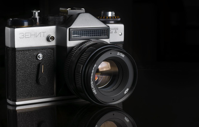 Фото обои камера, Зенит, фотоаппарат, объектив