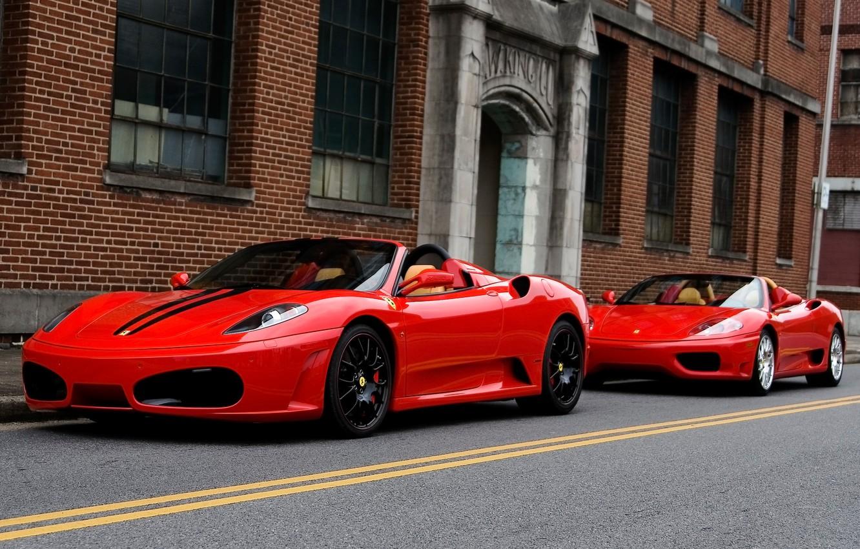 Фото обои красный, ferrari, f430