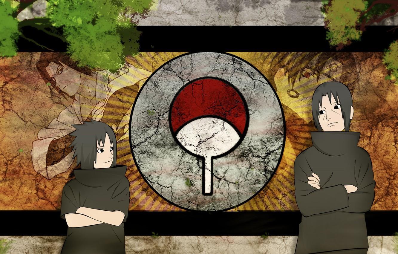 Фото обои Sasuke, naruto, anime, art, Itachi, Uchiha clan
