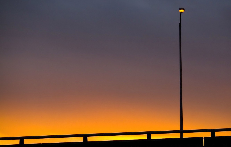 Фото обои небо, фонарь
