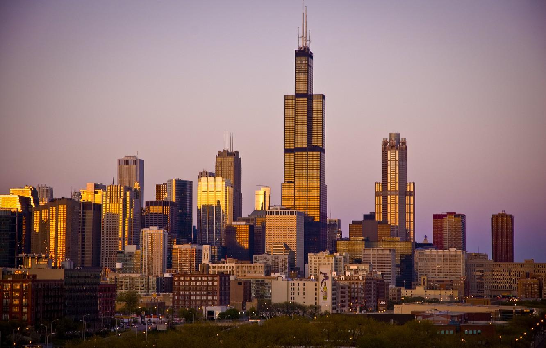 Обои америка, чикаго, высотки, небоскребы, chicago, сша, здания. Города foto 13