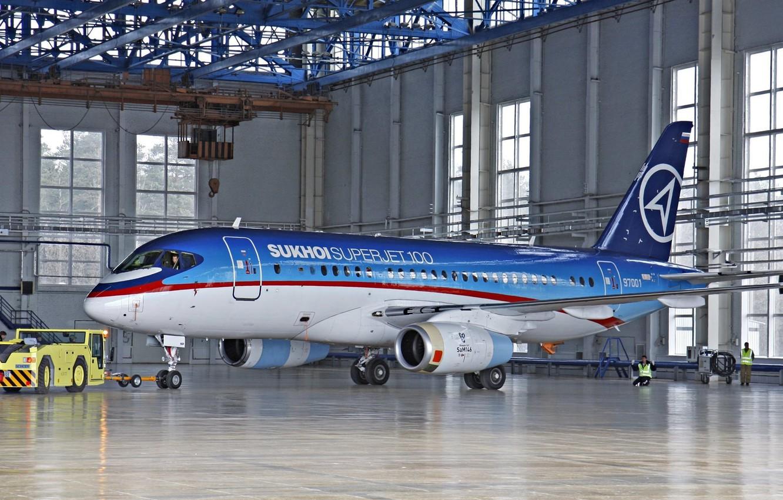 Обои Бе-200, дирижабль на заднем плане, российский, Самолёт, амфибия, на выставке. Авиация foto 10