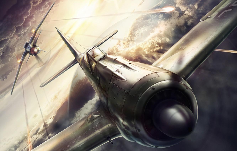 Обои истребитель, Миг-3, Облака, Самолёт. Авиация foto 15