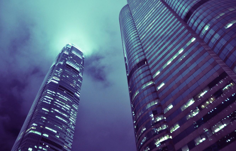 Фото обои здания, дома, небоскребы, Hong Kong, tower building