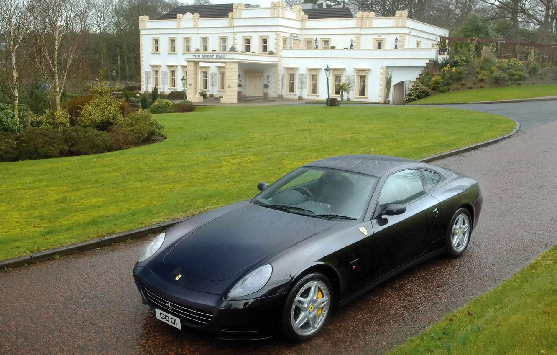 Фото обои чёрная, wallpaper, ferrari, cars, Ferrari 612 Scaglietti, sizes