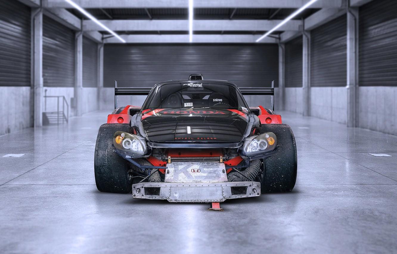 Фото обои Le Mans, Honda, Car, Front, Racing, S2000, Tuning, Future, by Khyzyl Saleem