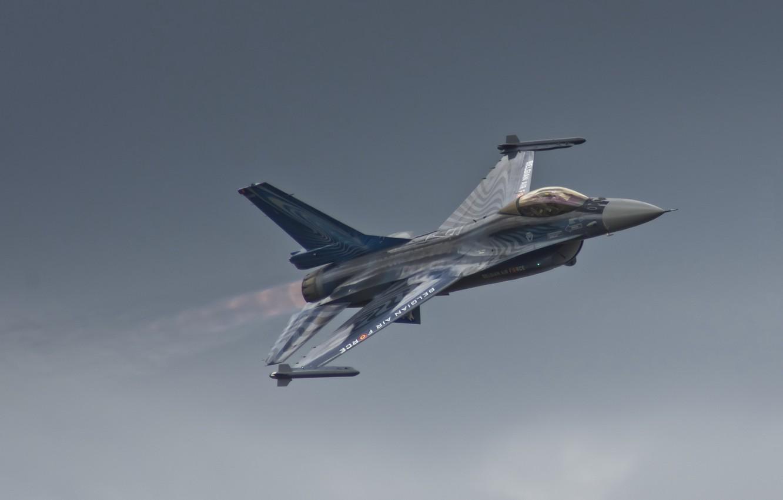 Фото обои истребитель, Fighting, F-16, Falcon, Dynamics, General