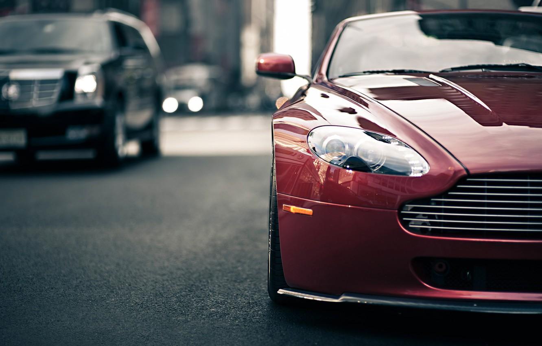 Фото обои Aston Martin, Vantage, Style, Blur, Traffic