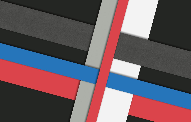 Фото обои белый, линии, синий, красный, серый, черный, design, color, material