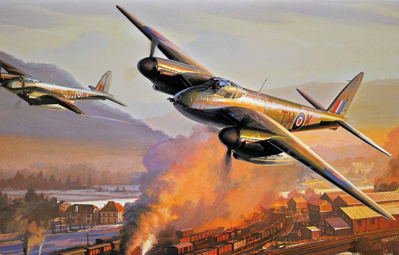 Обои De havilland mosquito, британский многоцелевой бомбардировщик. Авиация foto 7