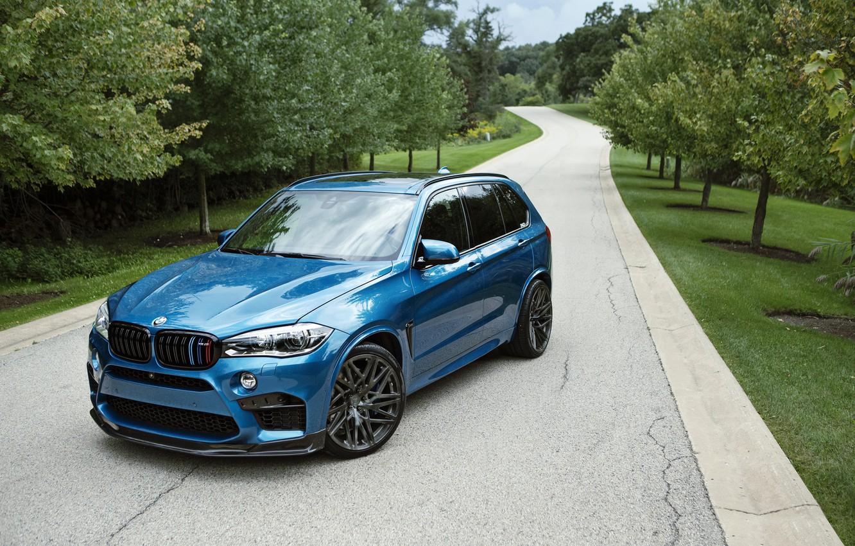 Фото обои BMW, Голубой, Автомобиль, IND, Металлик, 2015-16, X5, M