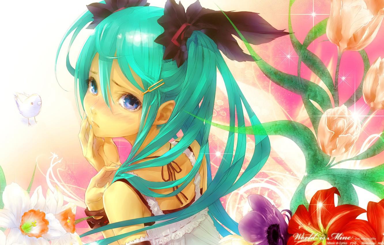 Фото обои рисунок, аниме, девочка