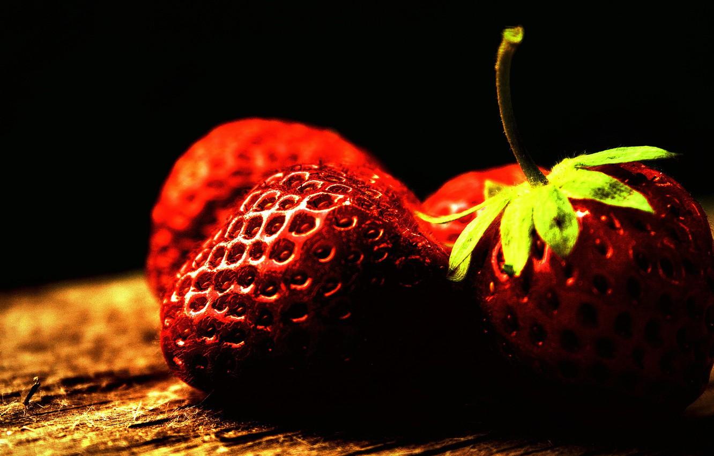 Фото обои макро, ягоды, фото, цвет, обработка, клубника, фрукты, картинка, витамины