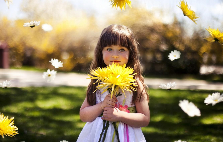 Обои настроение, Девочка, цветок. Настроения foto 10