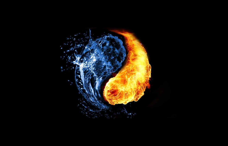 Фото обои фон, символ, гармония, инь-янь