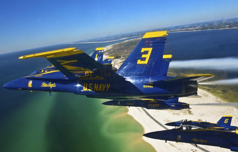 Обои fly, delta formation, Blue angels. Авиация foto 6