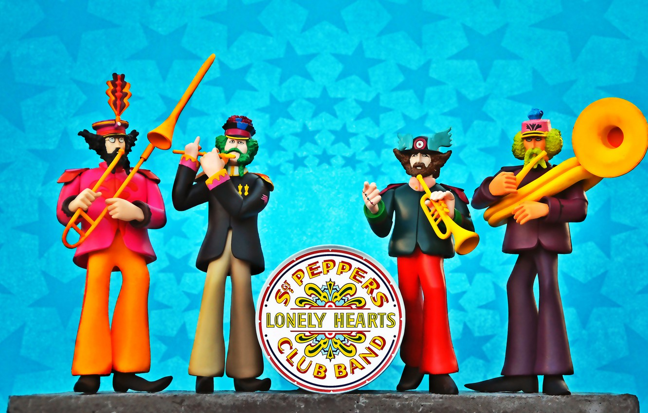 Обои The beatles, sgt. peppers lonely hearts club band, yellow submarine. Музыка foto 6