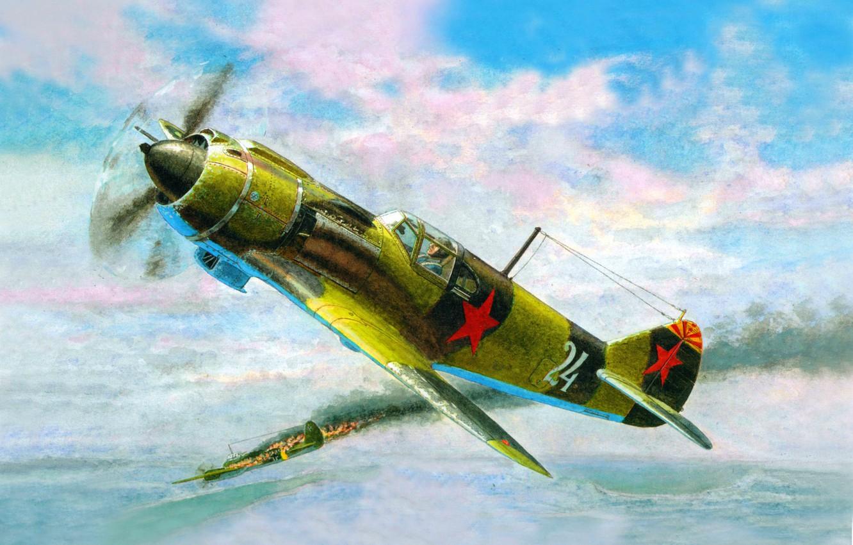 Обои подбитый, советский, самолеты, истребитель. Авиация foto 10