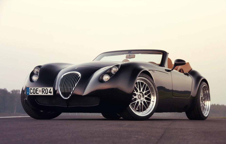 Фото обои Автомобиль, Black, Wallpaper, Wiesmann Roadster MF4/MF4-S