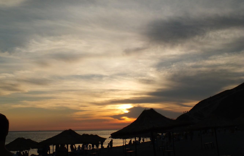 Фото обои море, облака, закат, Горы, Сукко