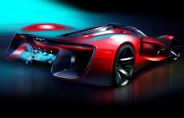 Фото обои Dodge, Vision, додж, Tomahawk, SRT, Gran Turismo, 2015