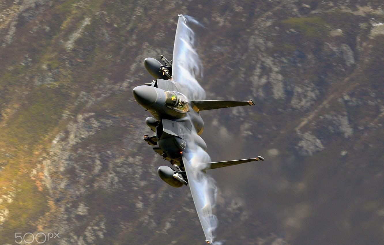Обои летит, синее небо, F-15E, небо, боевой самолет. Авиация foto 15