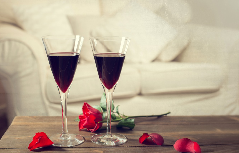 Картинки цветы и бокалы вина это то чему