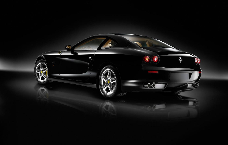 Фото обои авто, машины, чёрный, ferrari, феррари