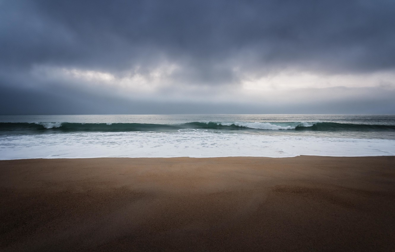 Обои Облака, одна, буря, clouds, Alone, storm, beach, horizon. Настроения foto 19