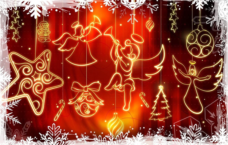 Фото обои украшения, красный, вектор, Рождество