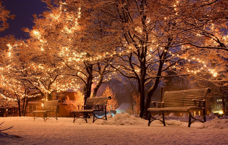 Обои snow, winter. Города foto 8
