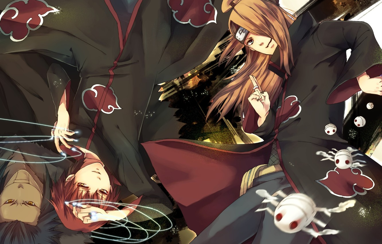 Фото обои аниме, арт, парни, Naruto, Дейдара, Сасори