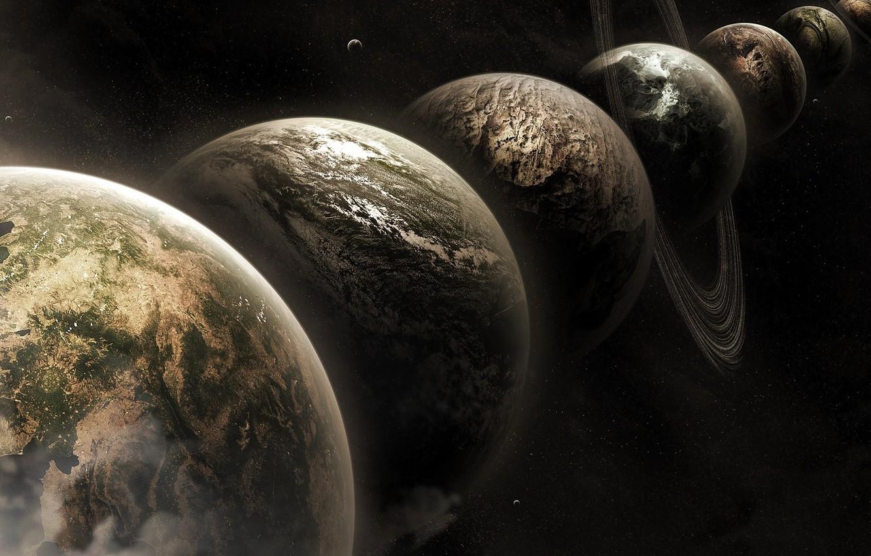 Фото обои космос, планеты, космическое простратнство