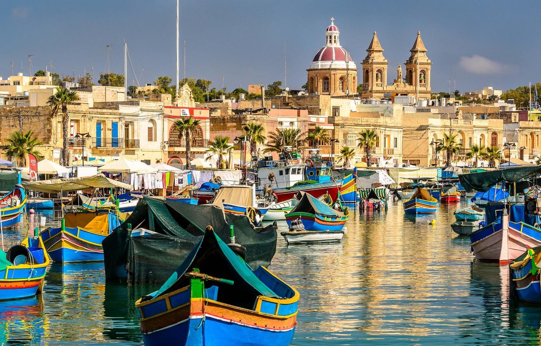 Обои Мальта, malta xlokk, malta, Залив, Marsaxlok, marsaxlokk bay, марсашлокк. Города foto 6