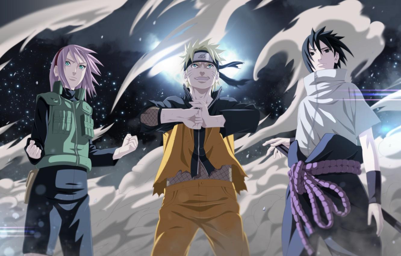 Фото обои Сакура, Саске, Sasuke, Наруто, Naruto, Sakura