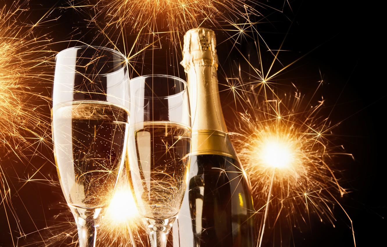 картинки новый год шампанское край